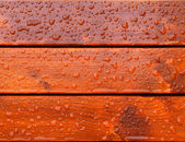 Drops of water on the boards — Stock Photo