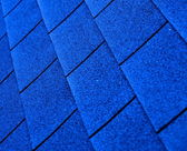 Blue shingle roofing — Stock Photo