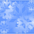 Snow flake background — Stock Photo