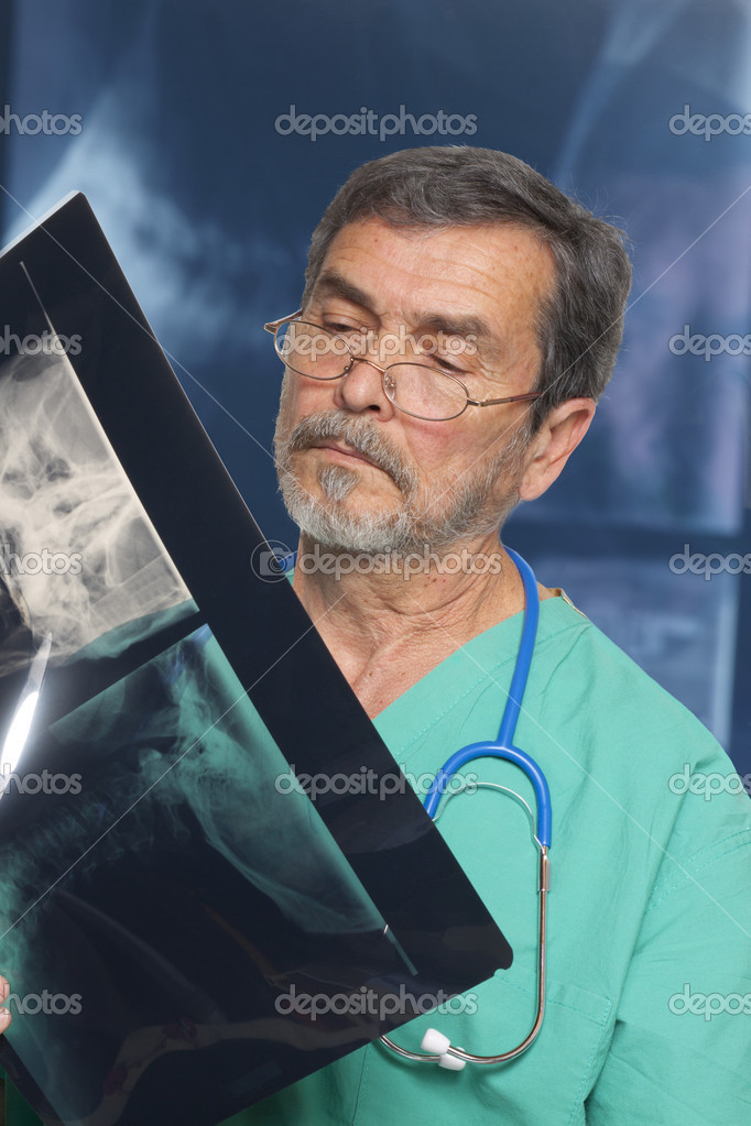 Doctor Radiologist examining xray — Stock Photo #10766378