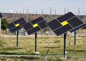 Solar panels Green energy — Stock Photo