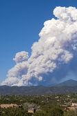 Fire, Sangre de Cristo Mtns. Santa Fe, New Mexico, USA — Stock Photo