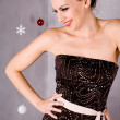 Laughing Holiday Girl — Stock Photo