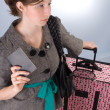 Waiting in Line - impatient passenger — Stock Photo