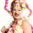 Flower Drag Queen - Stock Photo