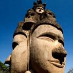 Face of buddha at the Buddha Park, near Vientiane. Laos — Stock Photo #11001113