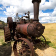 Stock Photo: Old Steam Tractor