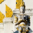 Praying statue Chiang Mai - Wat Detail — Stock Photo