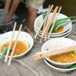 Damnoen Saduak Floating Market Food Stall dishes, - Stock Photo