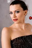 Elegant Christmas Girl — Stock Photo