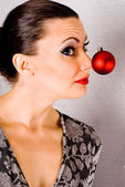 Goofy Holiday Girl — Stock Photo