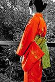 Kimono Lady — Stock Photo