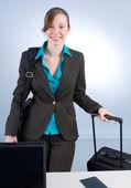 счастливый бизнесвумен — Стоковое фото