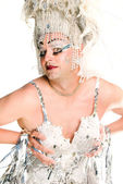 Silver drag queen — Stockfoto