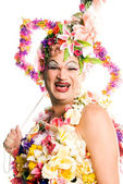 Flower Drag Queen — Stock Photo