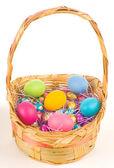 Basket of Easter Eggs — Stock Photo