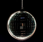 Black Disco Ball (Back lit) — Stock Photo