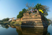 The fortified walls of Chiang Mai, Thailand — Stock Photo