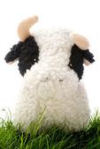 Toy Cow on Grass — Zdjęcie stockowe