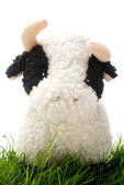 Toy Cow on Grass — Stock Photo