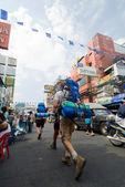Khao San Road Backpackers, Bangkok, Thailand — Stock Photo