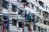 Chatoic urban scene in Bangkok, Thailand. — Stock Photo