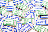 Tickets (Beer and Coupon) — Stock Photo