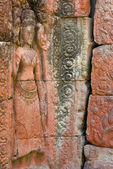 Wall Etching, Angkor — Stock Photo