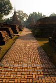 Pathway. Sukhothai, Thailand — Stock Photo