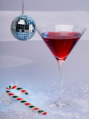 Disco Christmas Martini — Stock Photo