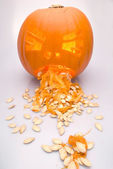 Vomiting Pumpkin — Stock Photo