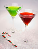 Christmas Martinis — Stock Photo