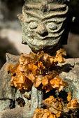 Stone devil at the Buddha Park, near Vientiane. Laos — Stock Photo