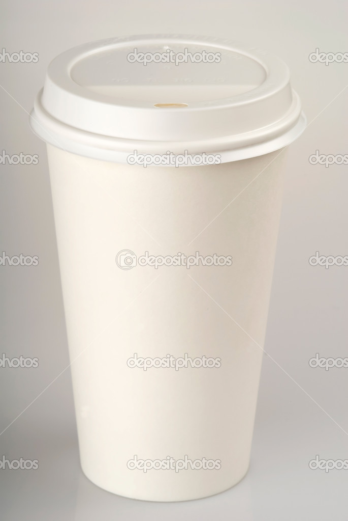 This image shows a Disposable Coffee Cup  Foto de Stock   #11001613