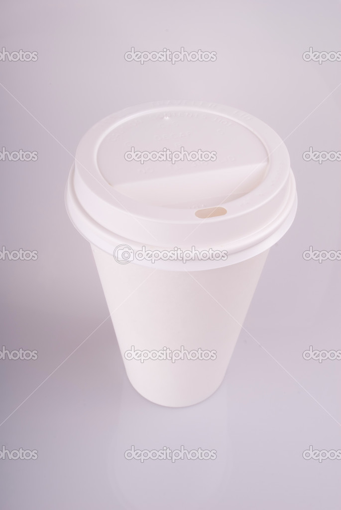This image shows a Disposable Coffee Cup — Stock Photo #11001888