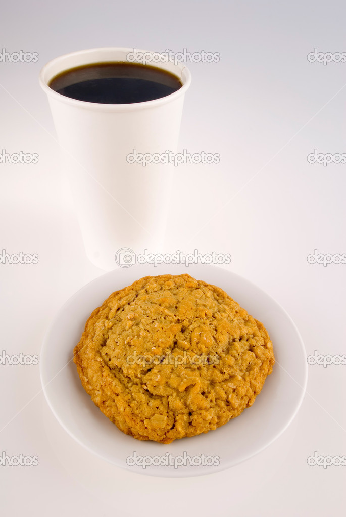 This image shows a Take-out Coffee and Cookie — Stock Photo #11001986