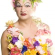 Stock Photo: Flower Drag Queen