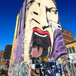 Graffiti Scream Building, Montreal Canada — Stock Photo