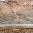 Stock Photo: Alluvial fan in North-East Greenland.