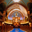 Wide angle view of Montreal's Notre Dame Basilica — Stock Photo