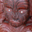 Stock Photo: Maori face carving - Rotorua, New Zealand