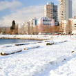 Snowy English Bay - Vancouver, Canada - Stock Photo