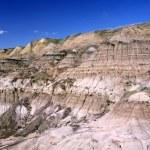 Dinosaur provincial park bana — Stockfoto