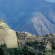 Machu Picchu as seen from Putucusi lookout - Stock Photo