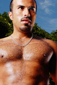Muscular Hispanic Male — Stock Photo