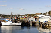 Fishing Boat And Harbor — Stock Photo
