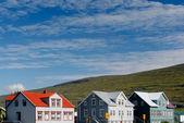 Edifícios coloridos - akureyri, Islândia — Fotografia Stock