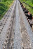 Treinrails — Stockfoto