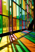Colorful Stained Glass Pattern (Palais des Congres - Montreal, C — Stock Photo