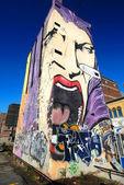 Graffiti Scream Building, Montreal Canada — Stock Photo